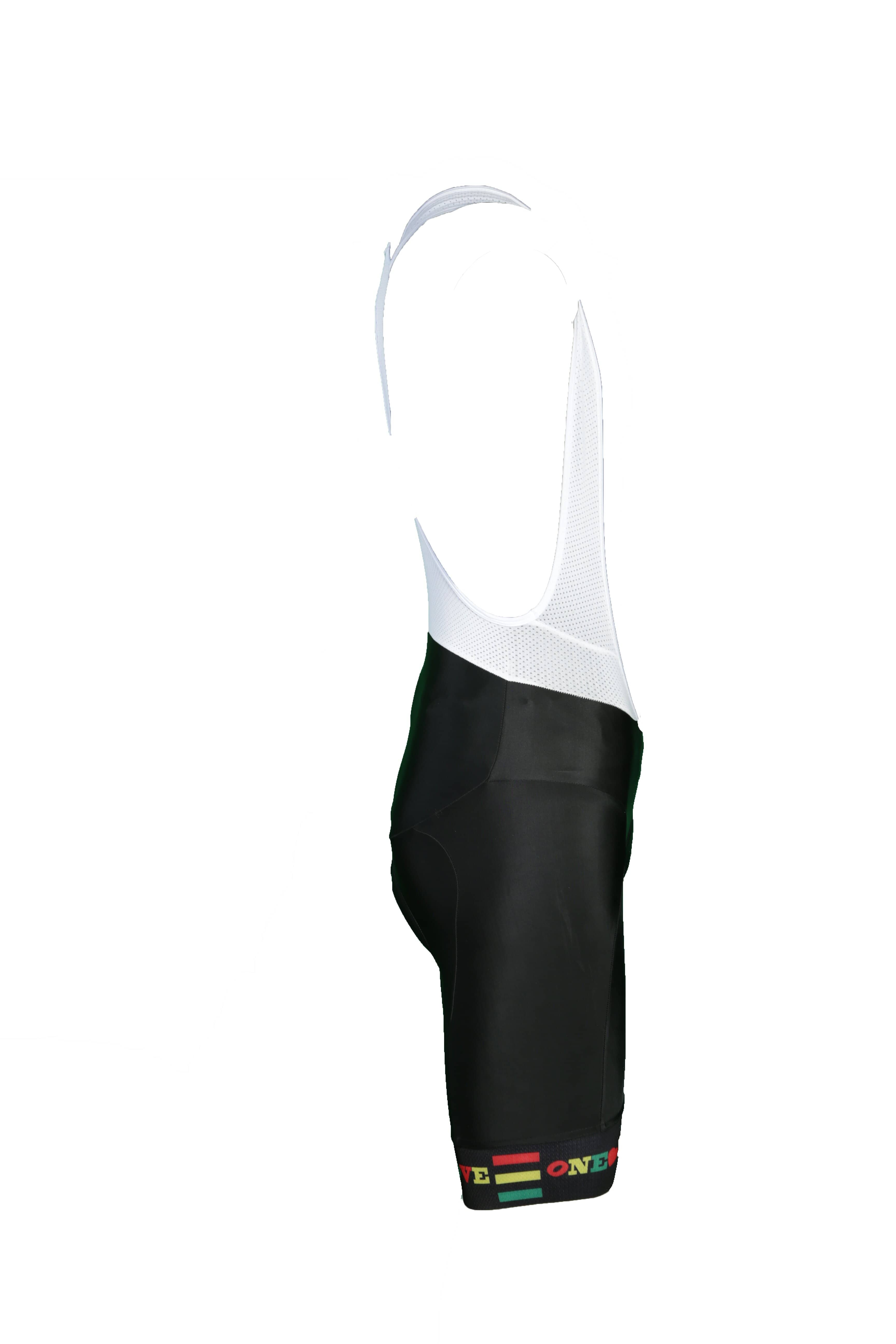 Black Elite Bib Shorts- T-strap in back- Womens- white Mesh top- Clearance