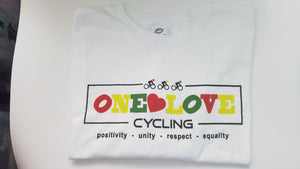 One Love Cycling T Shirts Men's White