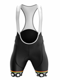 2021 Black White Bib Shorts Women