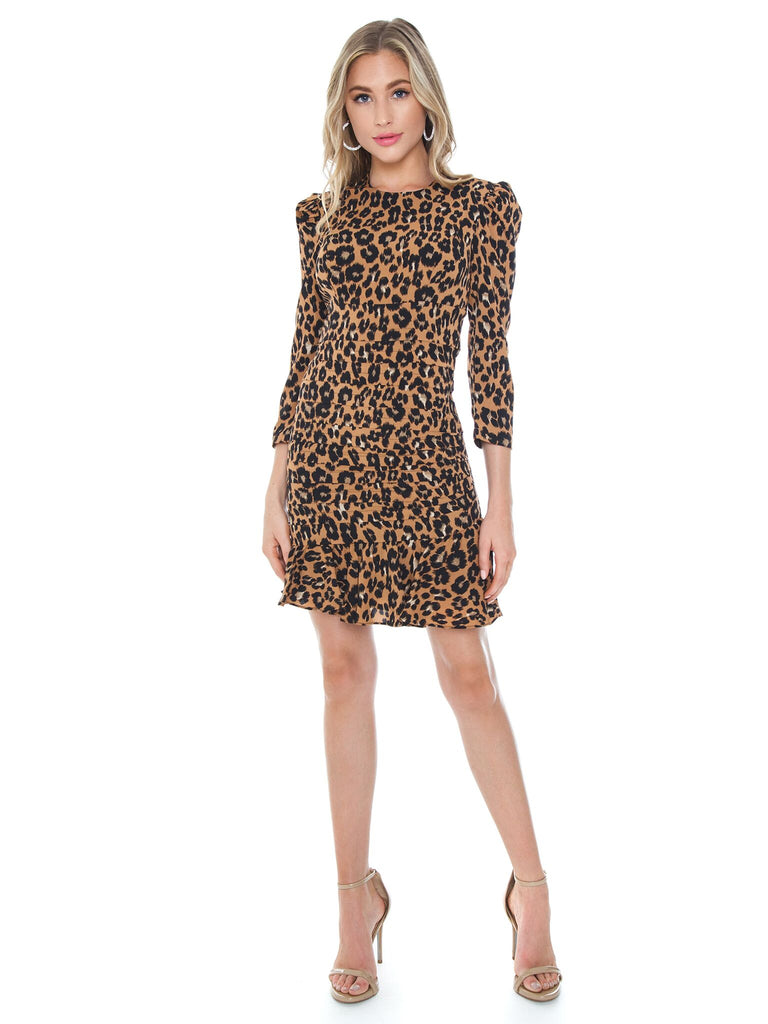 Girl outfit in a dress rental from BARDOT called Leopard Coatigan