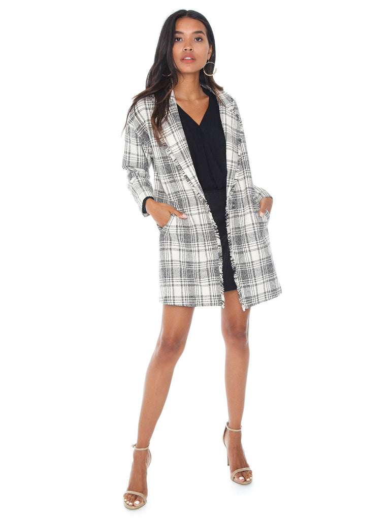 Girl outfit in a jacket rental from GREYLIN called Brigitte Houndstooth Jacket