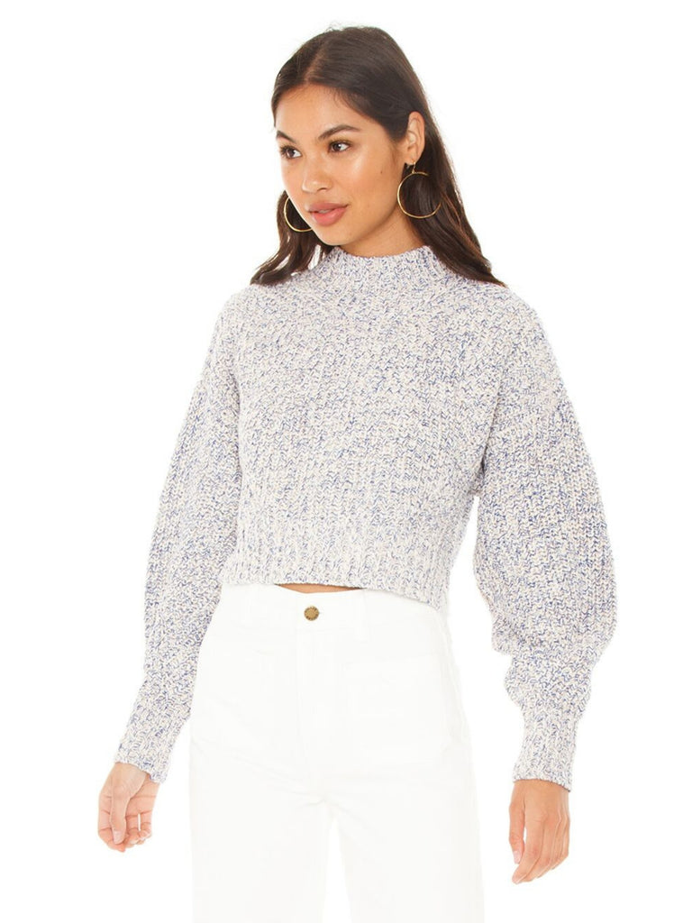Women outfit in a sweater rental from REBECCA MINKOFF called Venus Top