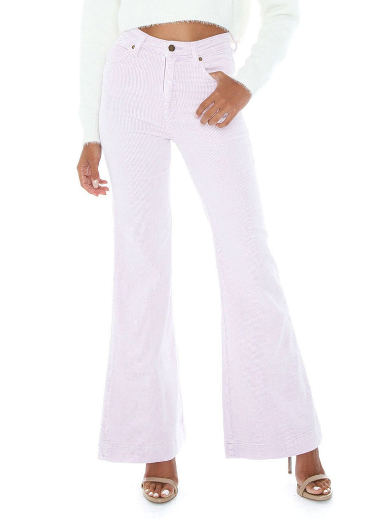 Women wearing a pants rental from ROLLAS called Campbell High Slit Pants