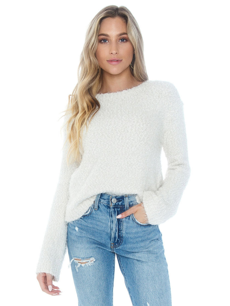 Women wearing a sweater rental from BB Dakota called Tiger Lily Bell Sleeve Top