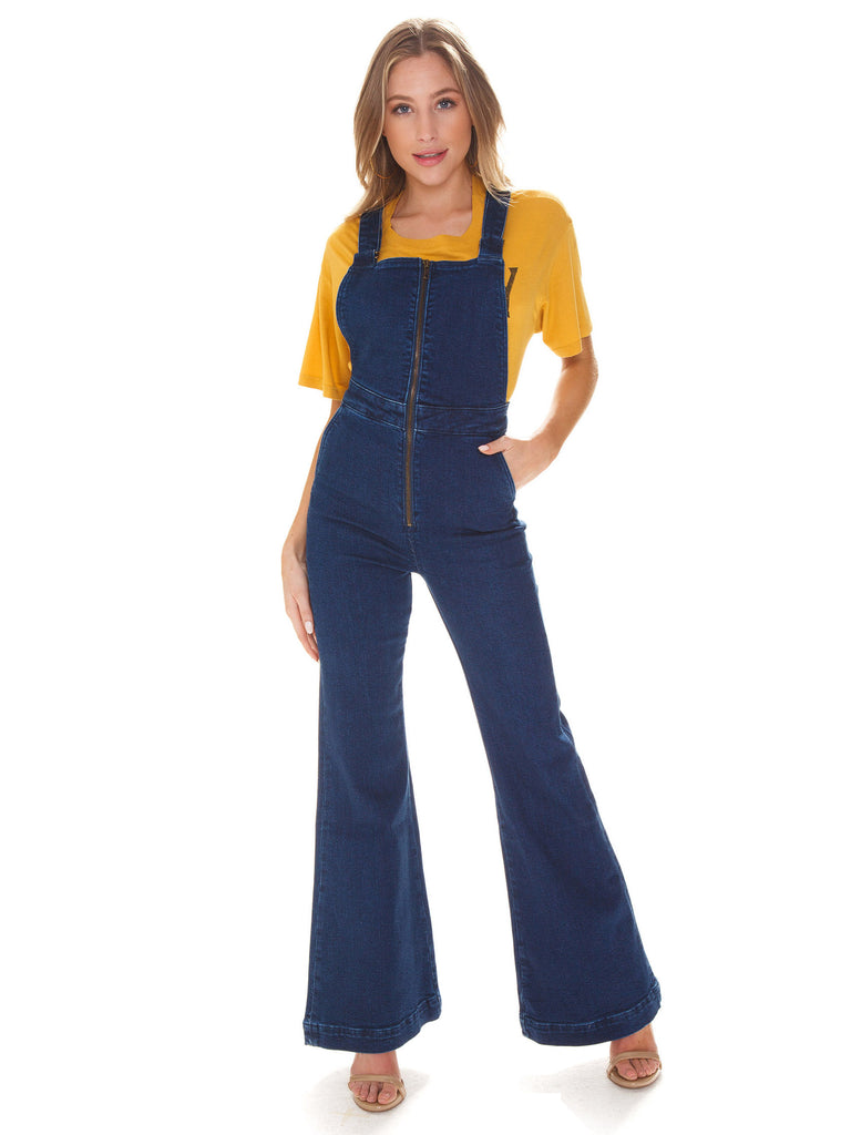 Girl wearing a jumpsuit rental from ROLLAS called Leighton Jumpsuit