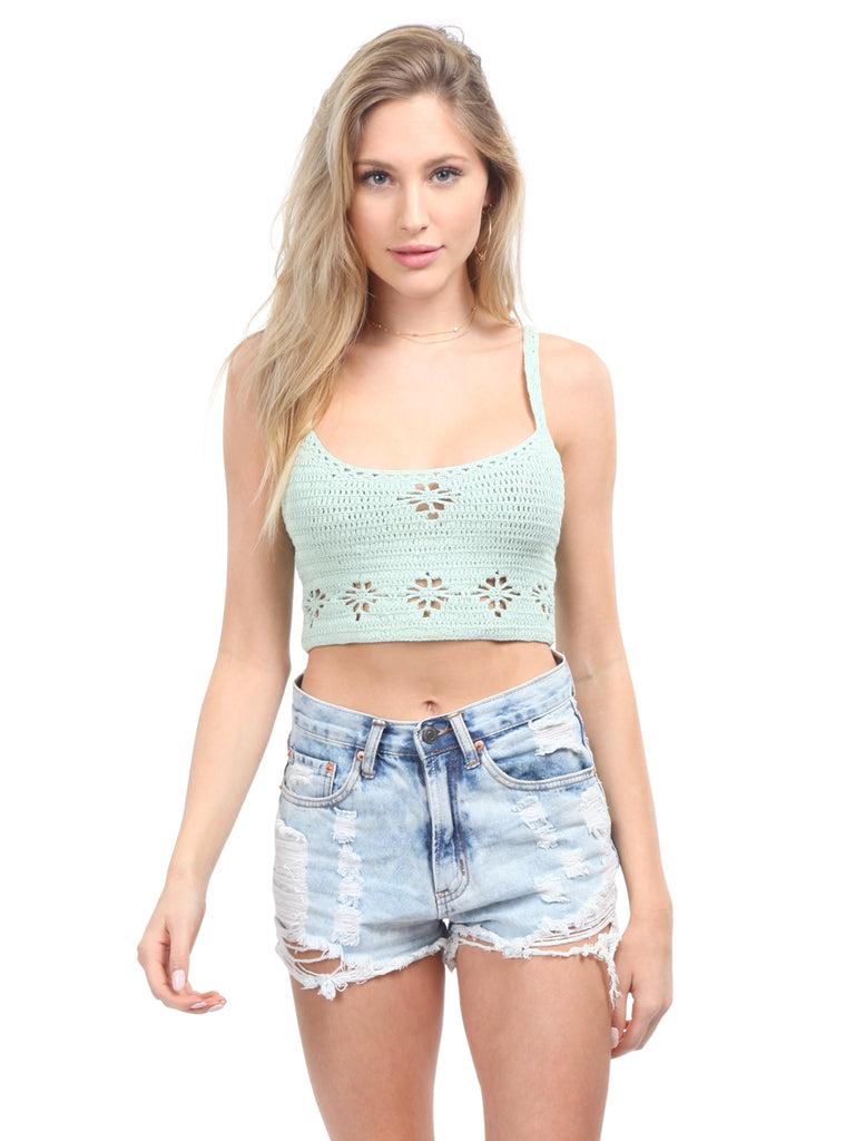 Girl wearing a top rental from Free People called Ezra Bralette