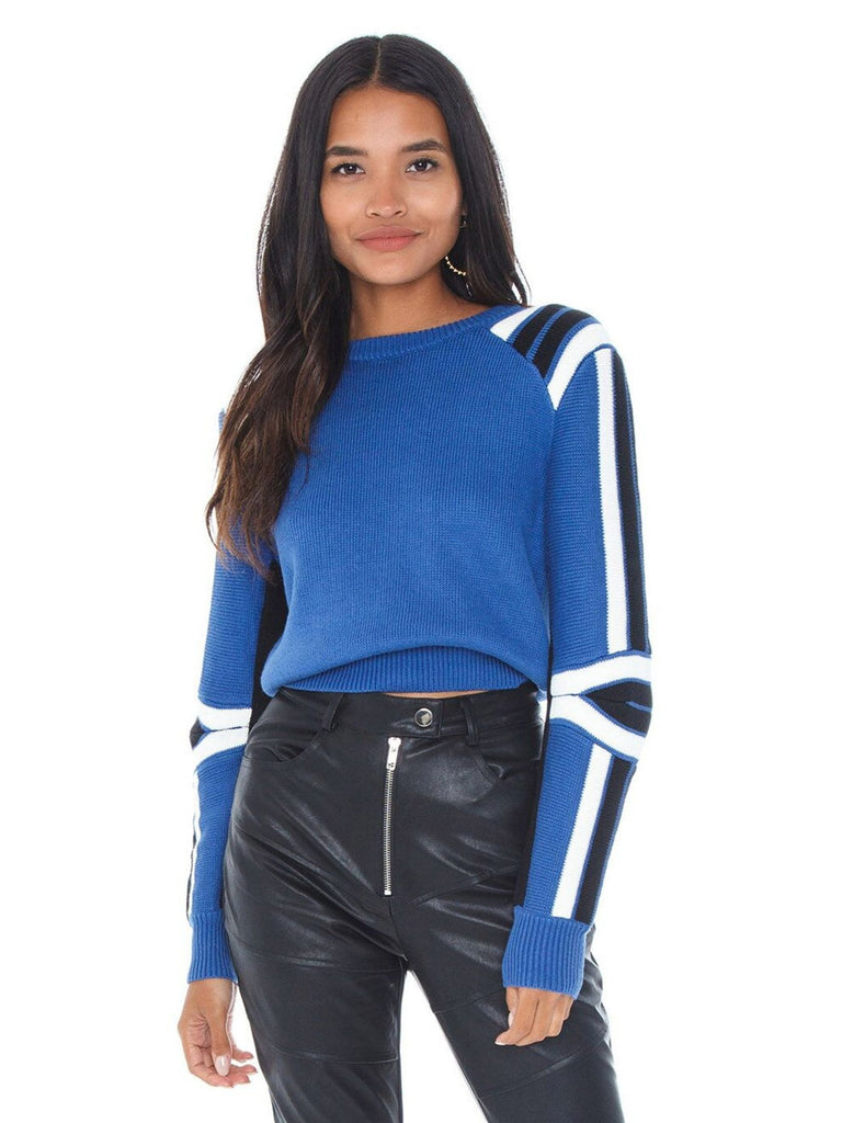 Women outfit in a sweater rental from REBECCA MINKOFF called Darla Top