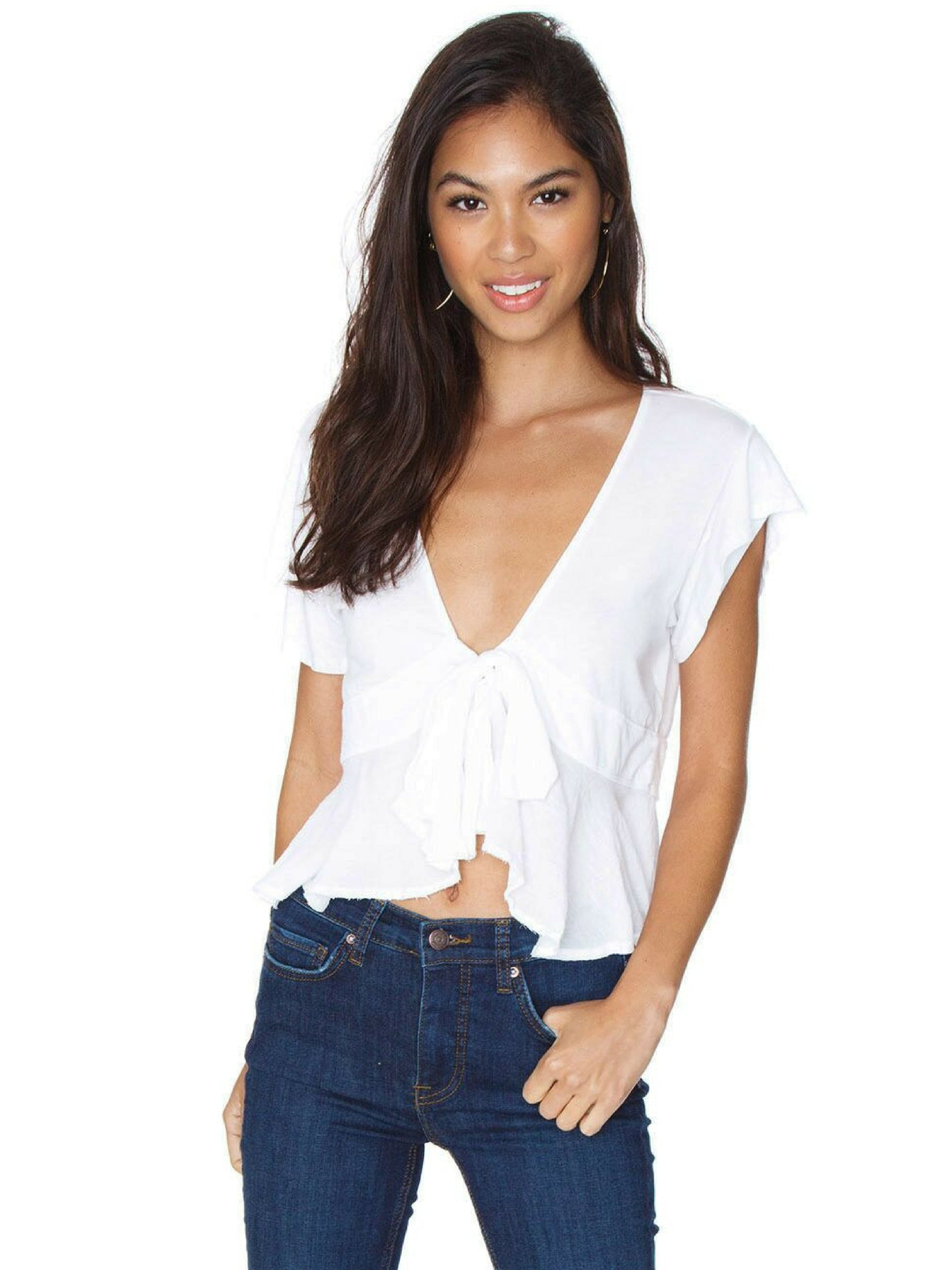 28604f68c85c Girl outfit in a top rental from Free People called Knot Me Tee