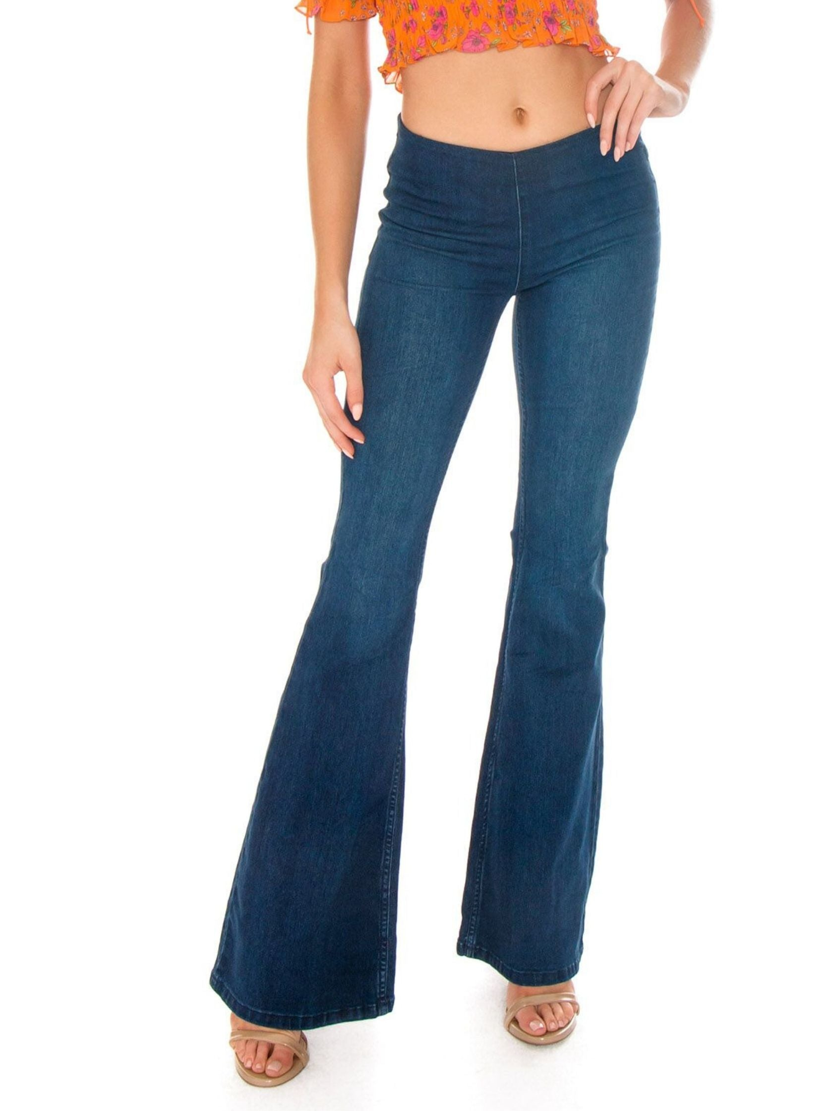 timeless design real deal 60% clearance Free People Rentals   Penny Pull On Flare Jeans - FashionPass