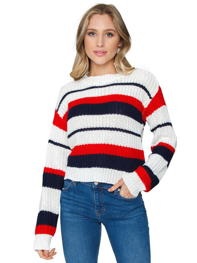 Women wearing a sweater rental from MINKPINK called Shady Crop Cami