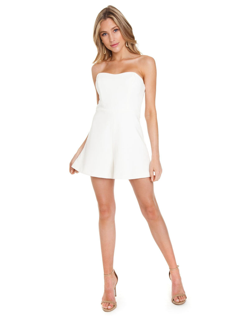 Girl outfit in a romper rental from French Connection called Classic Crepe Pleated Tank
