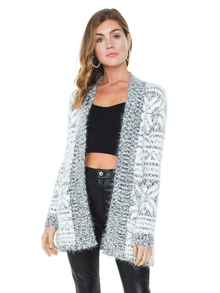 Women wearing a cardigan rental from BB Dakota called Fab Moment Faux Fur Jacket