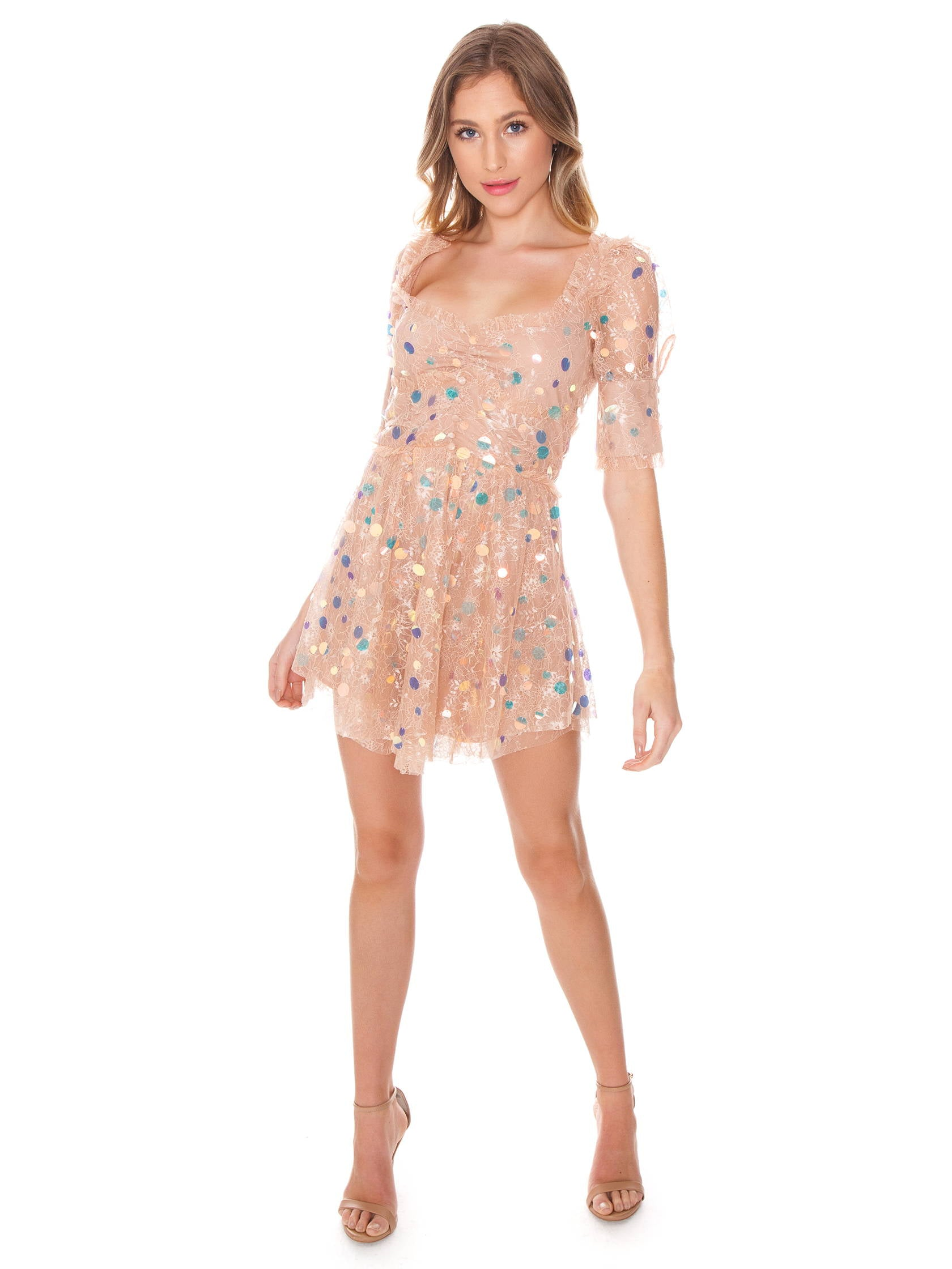 695cbc19eb Girl outfit in a dress rental from For Love   Lemons called Ace Mini Dress