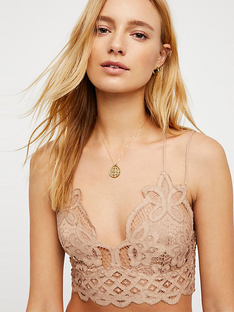 Girl outfit in a bralette rental from Free People called Deep Conversations Bodysuit