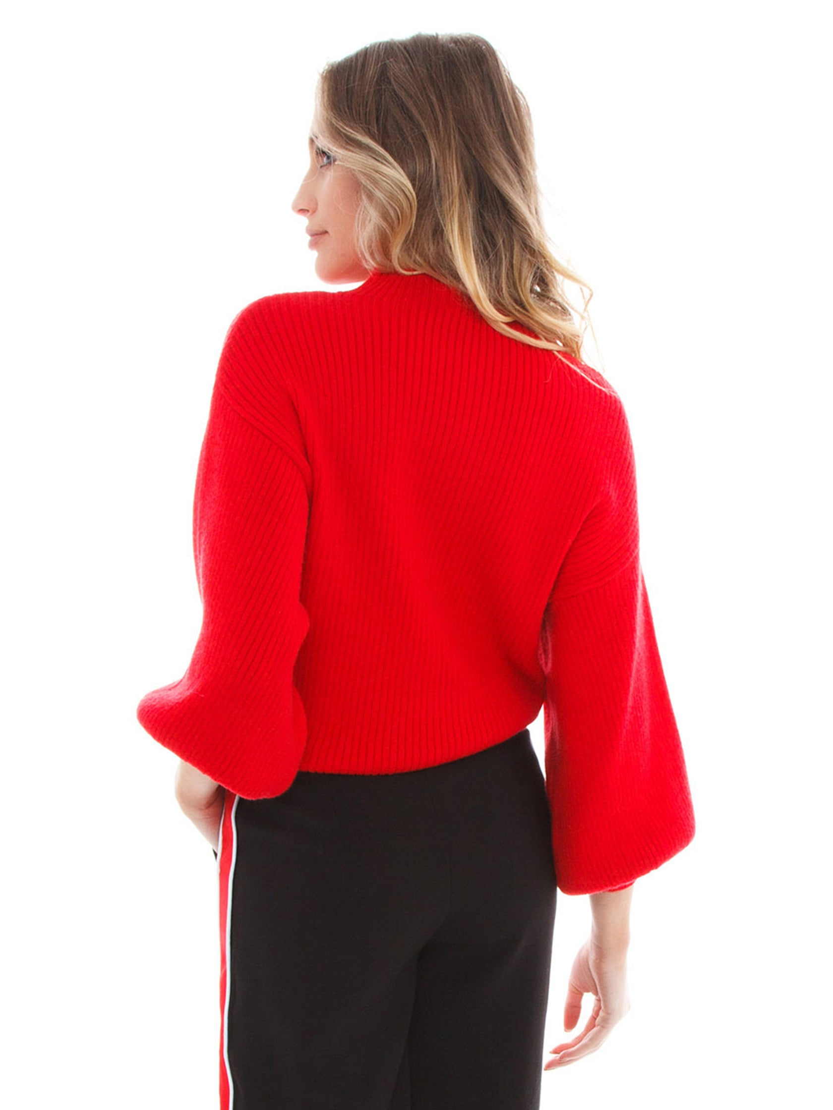 Women wearing a top rental from Line & Dot called Alder Sweater