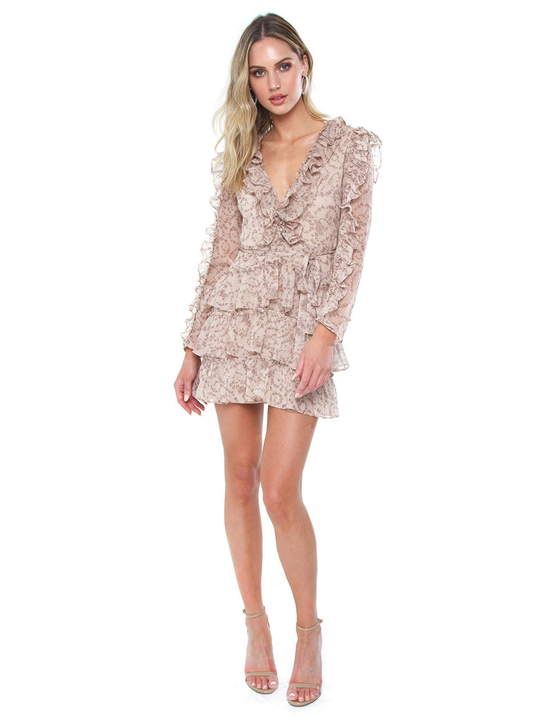 Women outfit in a dress rental from BARDOT called Fall For You Mini Dress