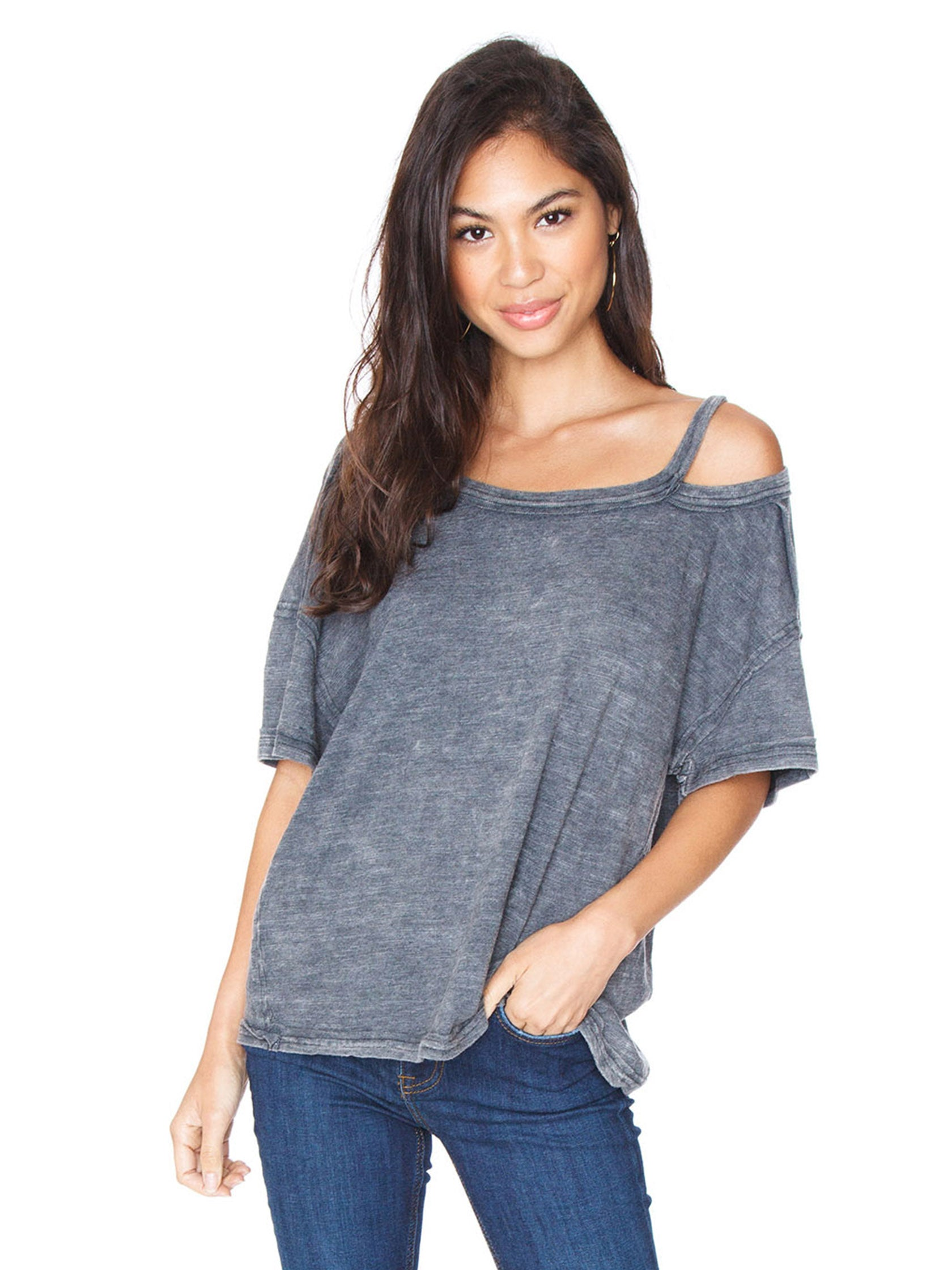 Woman wearing a top rental from Free People called Alex Tee
