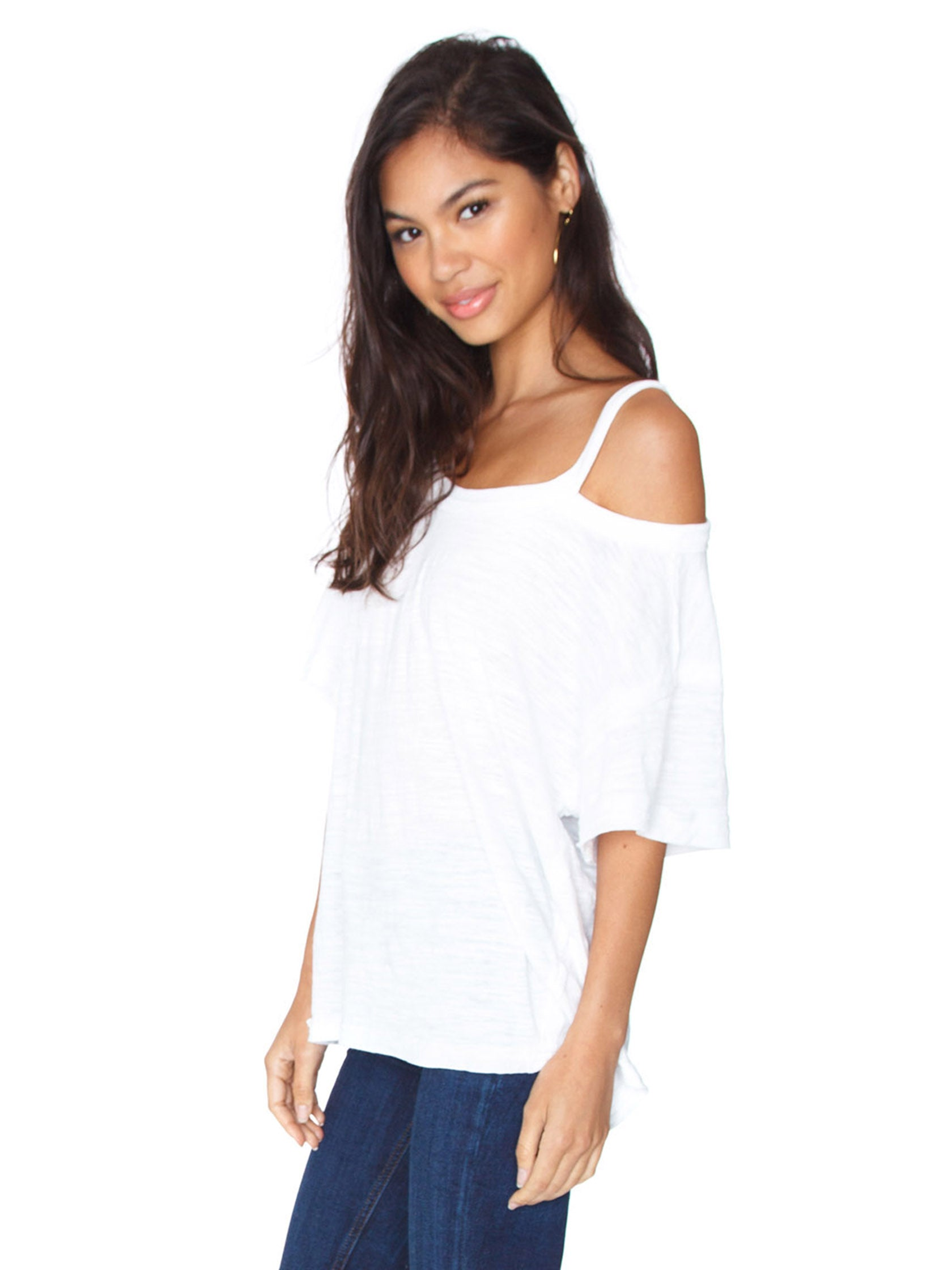Women wearing a top rental from Free People called Alex Tee