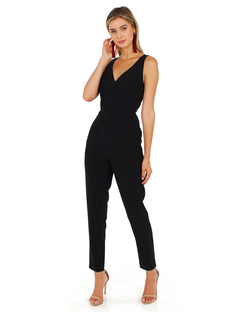 Women wearing a jumpsuit rental from Ali & Jay called You're So Classic Jumpsuit