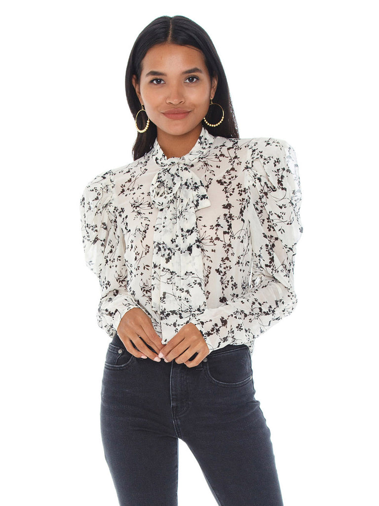 Women wearing a top rental from BARDOT called Allison Floral Top