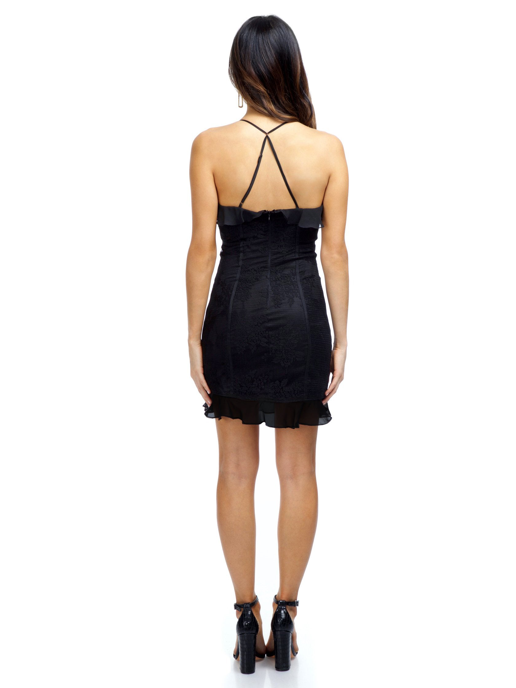 Women wearing a dress rental from The Jetset Diaries called Aphrodite Mini Dress