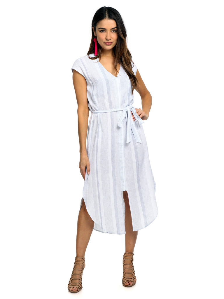 Women outfit in a dress rental from ASTR called Cowl Strappy Dress