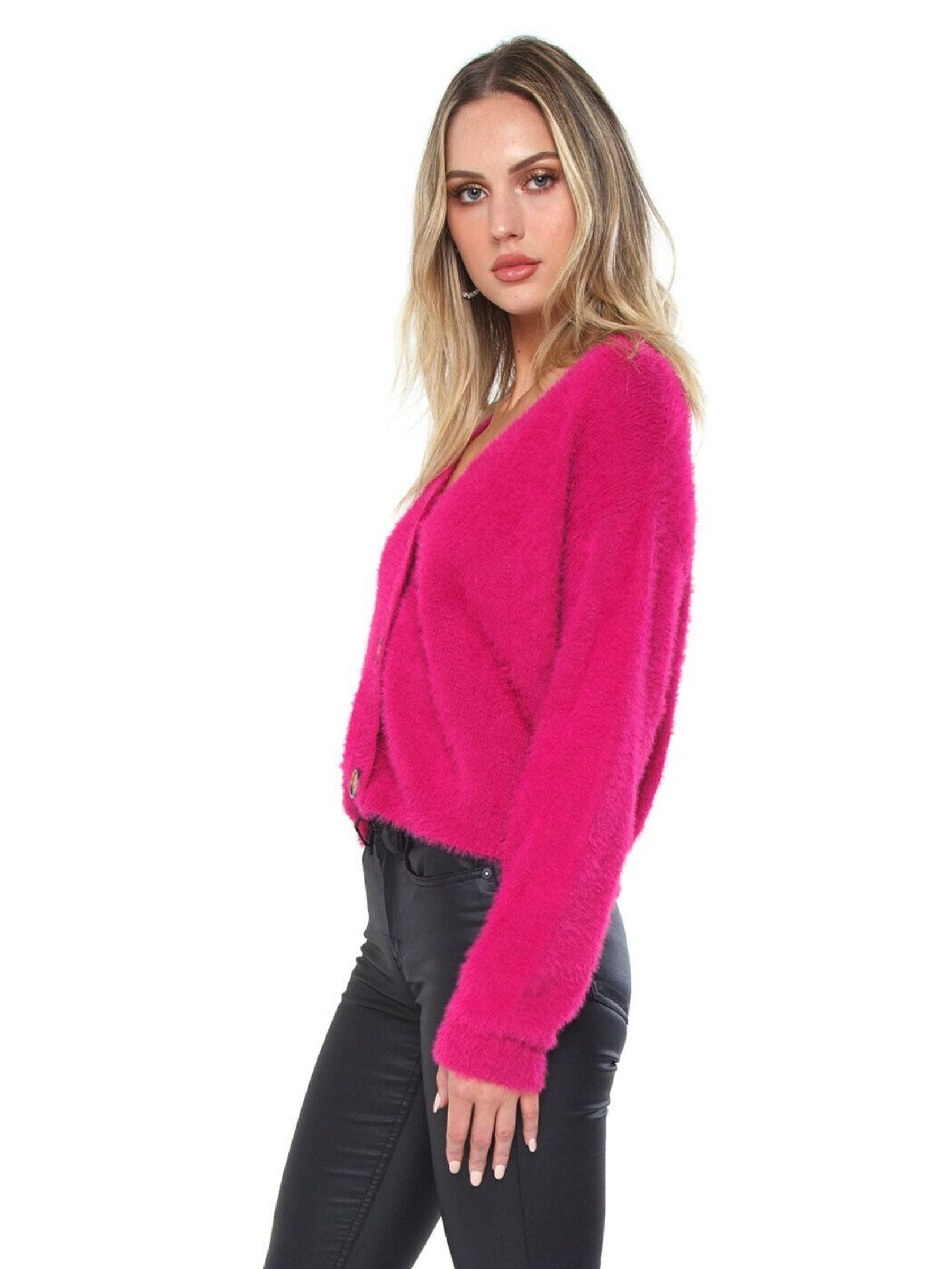 Women wearing a sweater rental from MINKPINK called Aurella Knit Cardigan