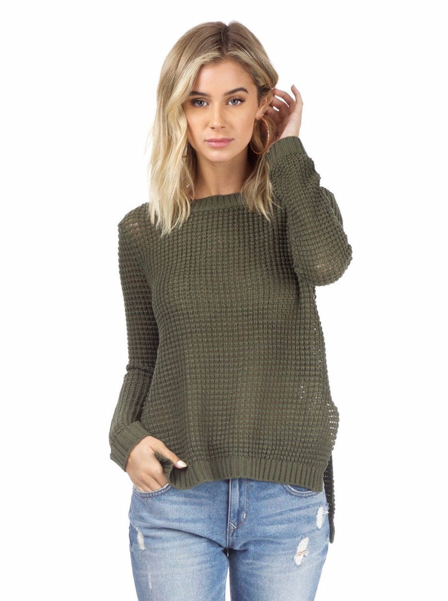 Women outfit in a sweater rental from BB Dakota called Dunning Sweater