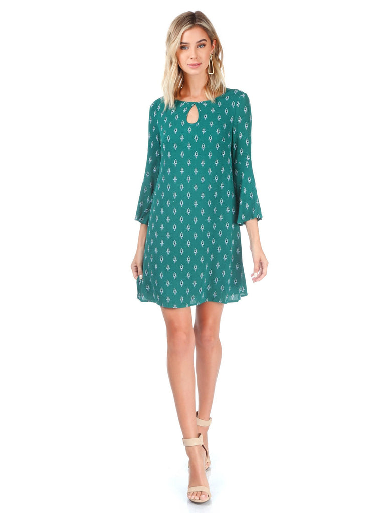 Women wearing a dress rental from BB Dakota called Laurel Canyon Drawstring Top