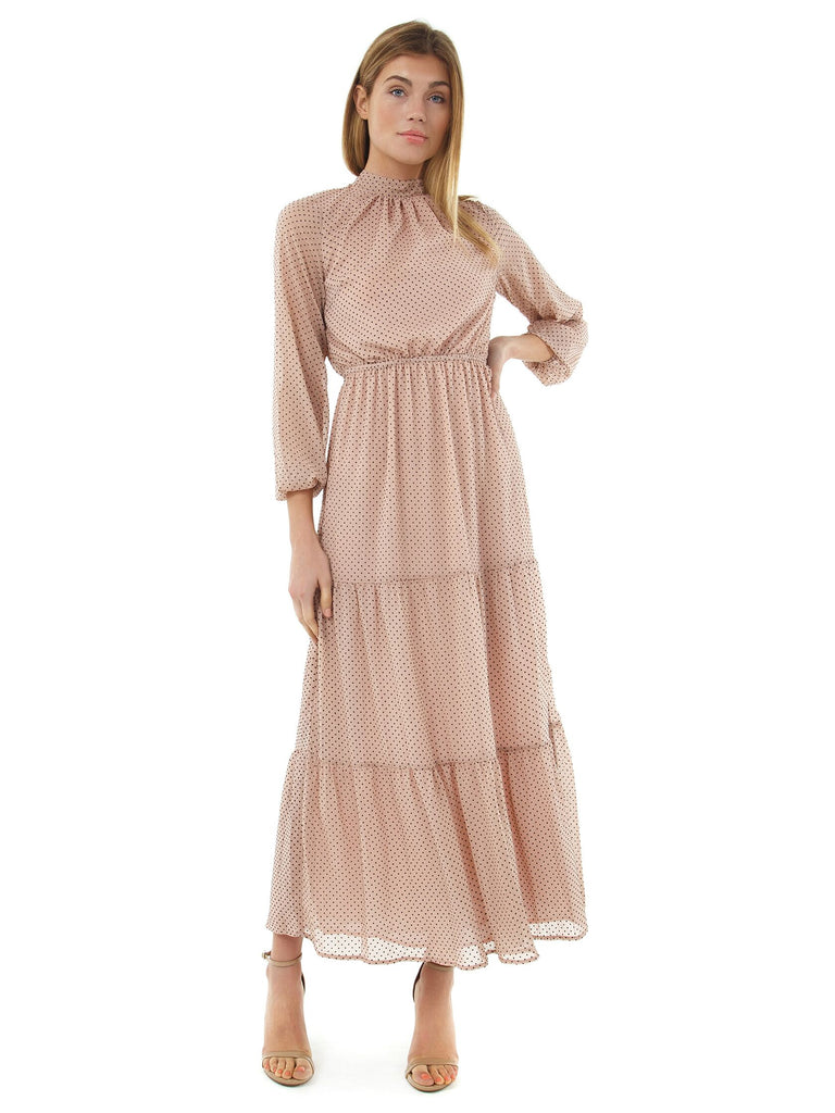 Women wearing a dress rental from MINKPINK called Be Someone Maxi