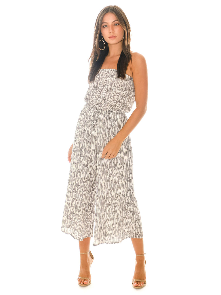 Women outfit in a jumpsuit rental from Blue Life called Summer Breeze Maxi Dress