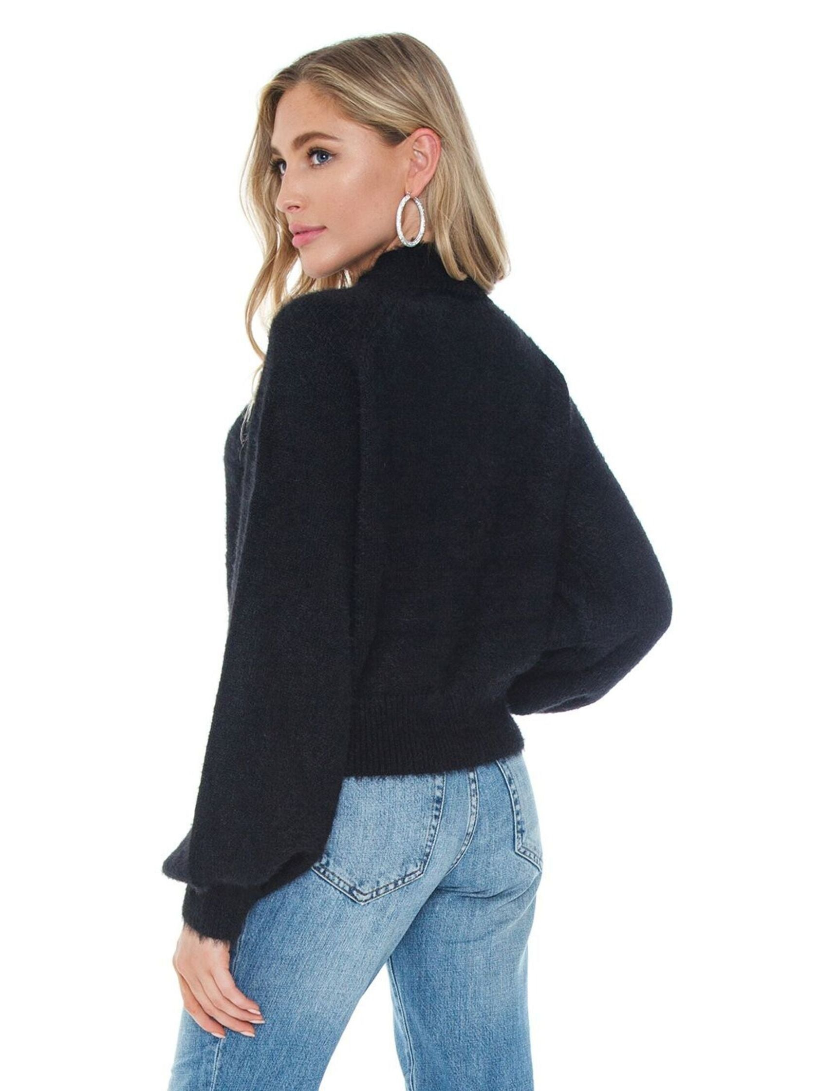 Women outfit in a sweater rental from BARDOT called Bell Sleeve Fluffy Knit