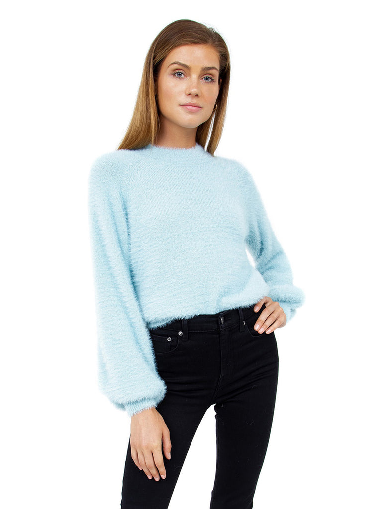 Women wearing a sweater rental from BARDOT called Belle Sleeve Fluffy Knit