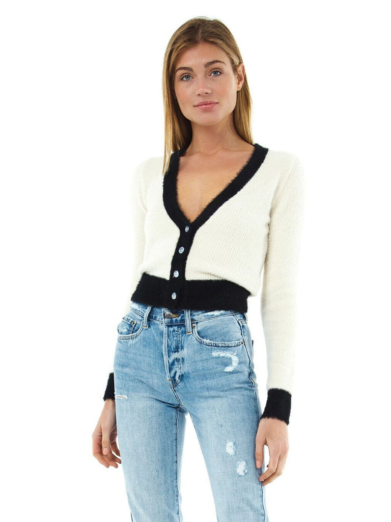 Women wearing a cardigan rental from ASTR called Bi-coastal Cardigan