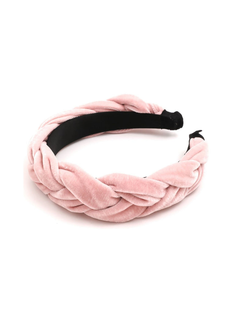 Women wearing a hair accessory rental from 8 Other Reasons called Tulum Pink