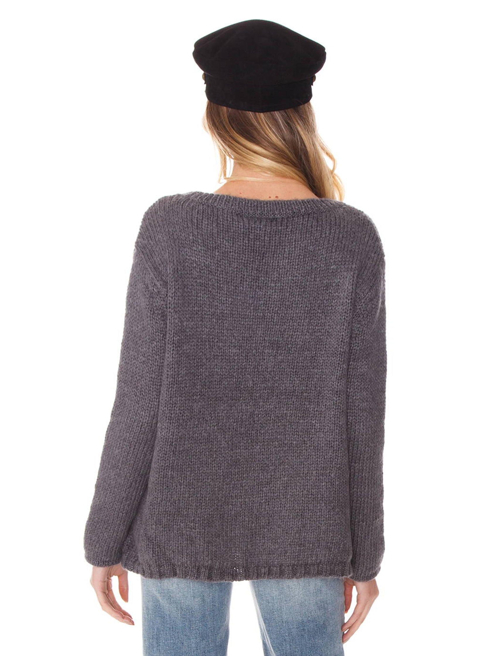 Women outfit in a sweater rental from Wooden Ships called Bolt Crewneck