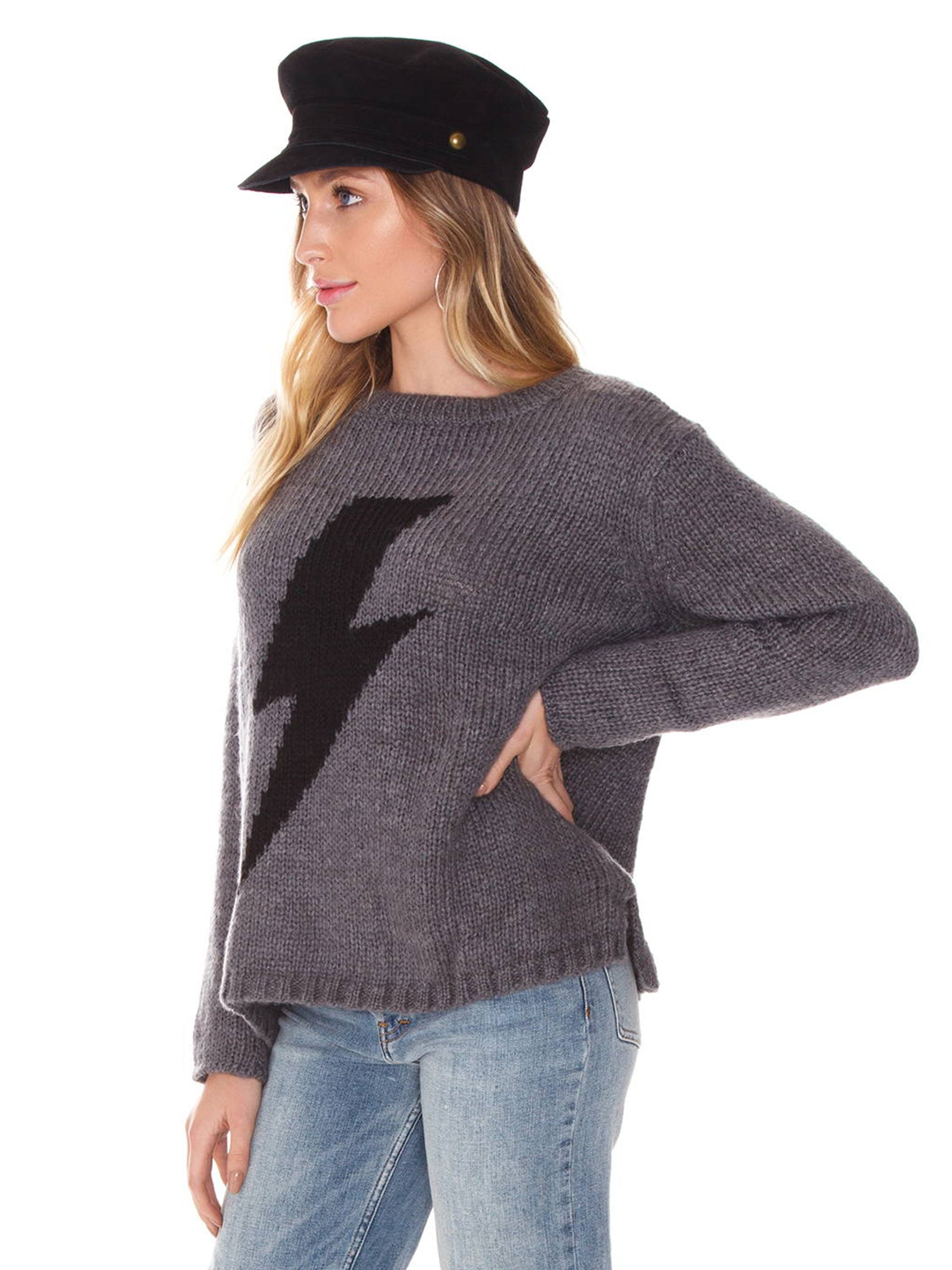 Women wearing a sweater rental from Wooden Ships called Bolt Crewneck