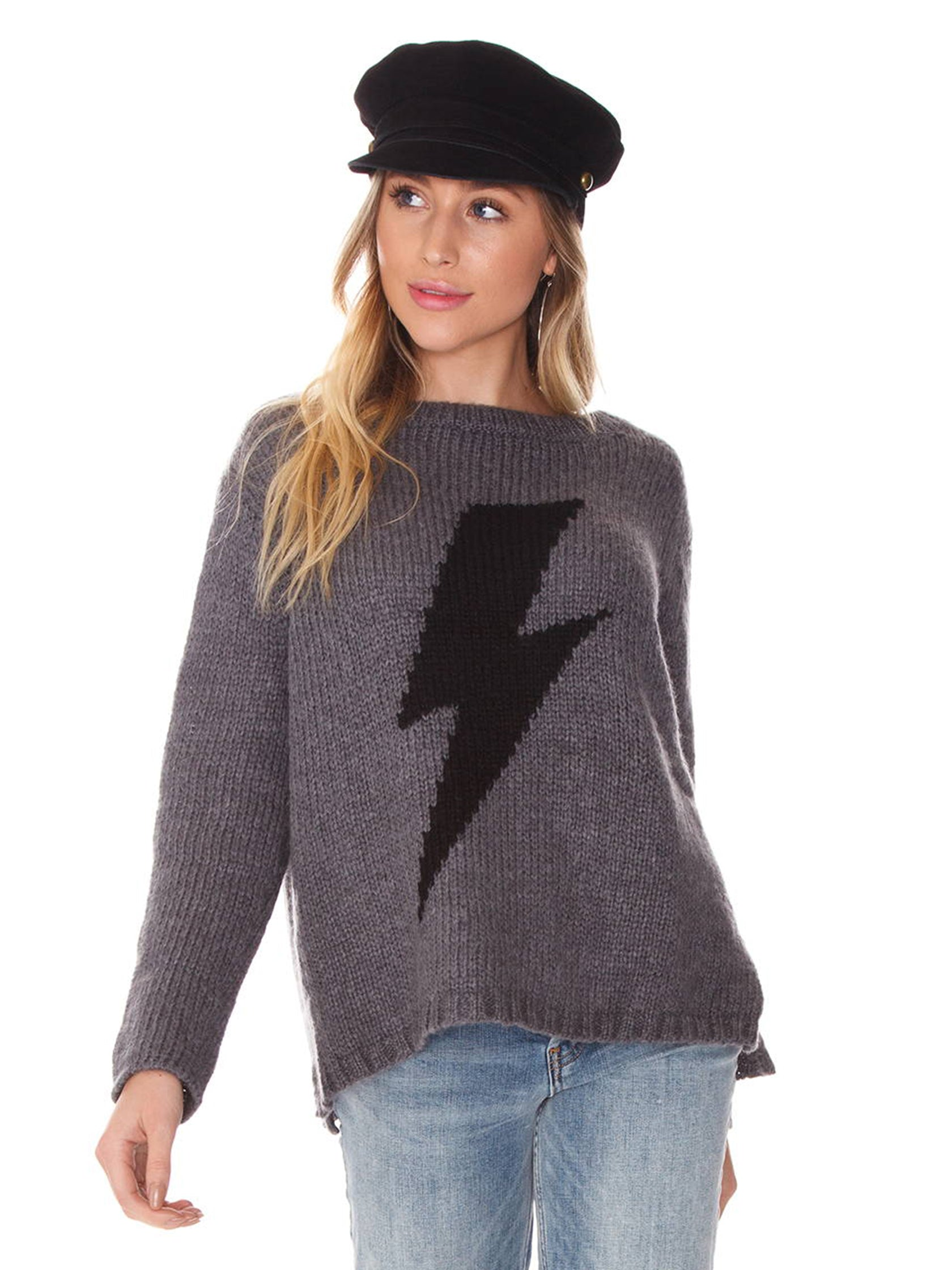 Woman wearing a sweater rental from Wooden Ships called Bolt Crewneck