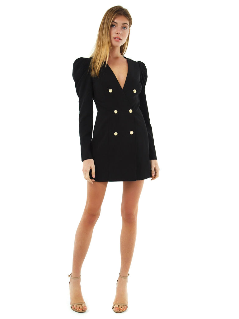 Women wearing a dress rental from BARDOT called Britt Blazer Dress