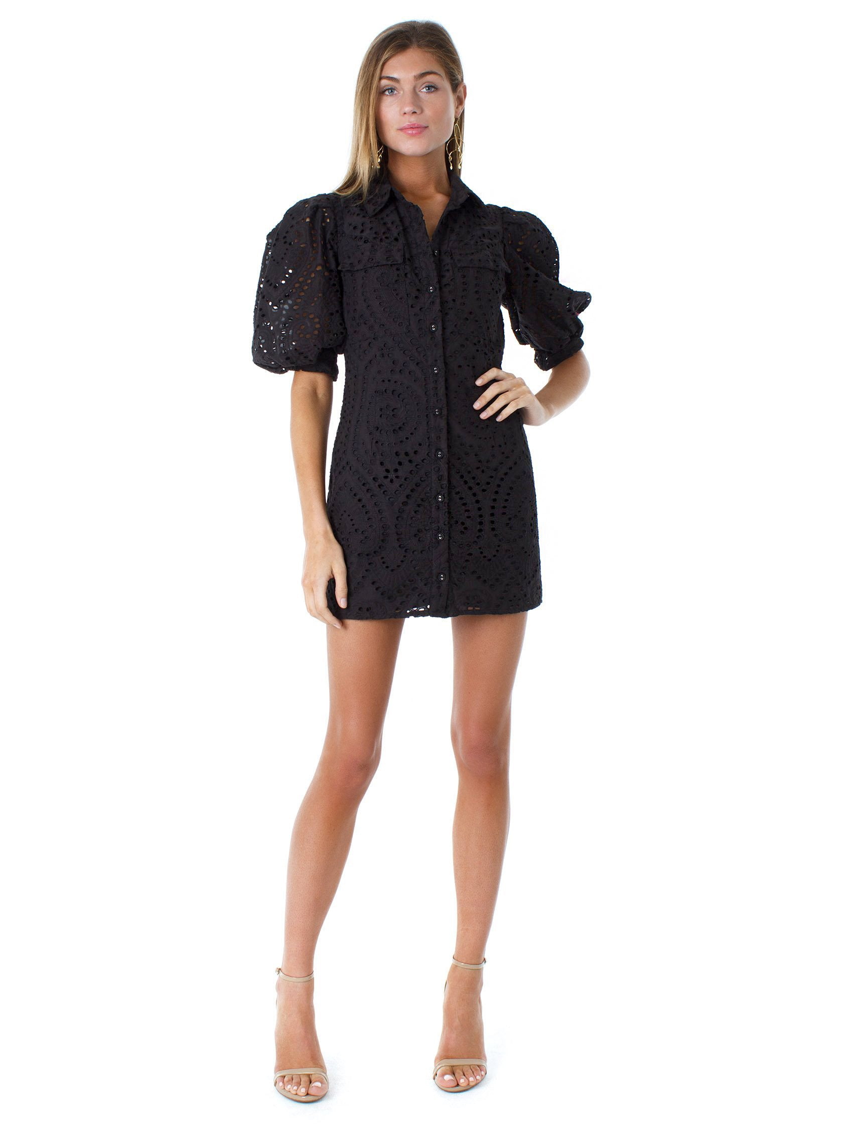Women outfit in a dress rental from BARDOT called Brody Mini Dress