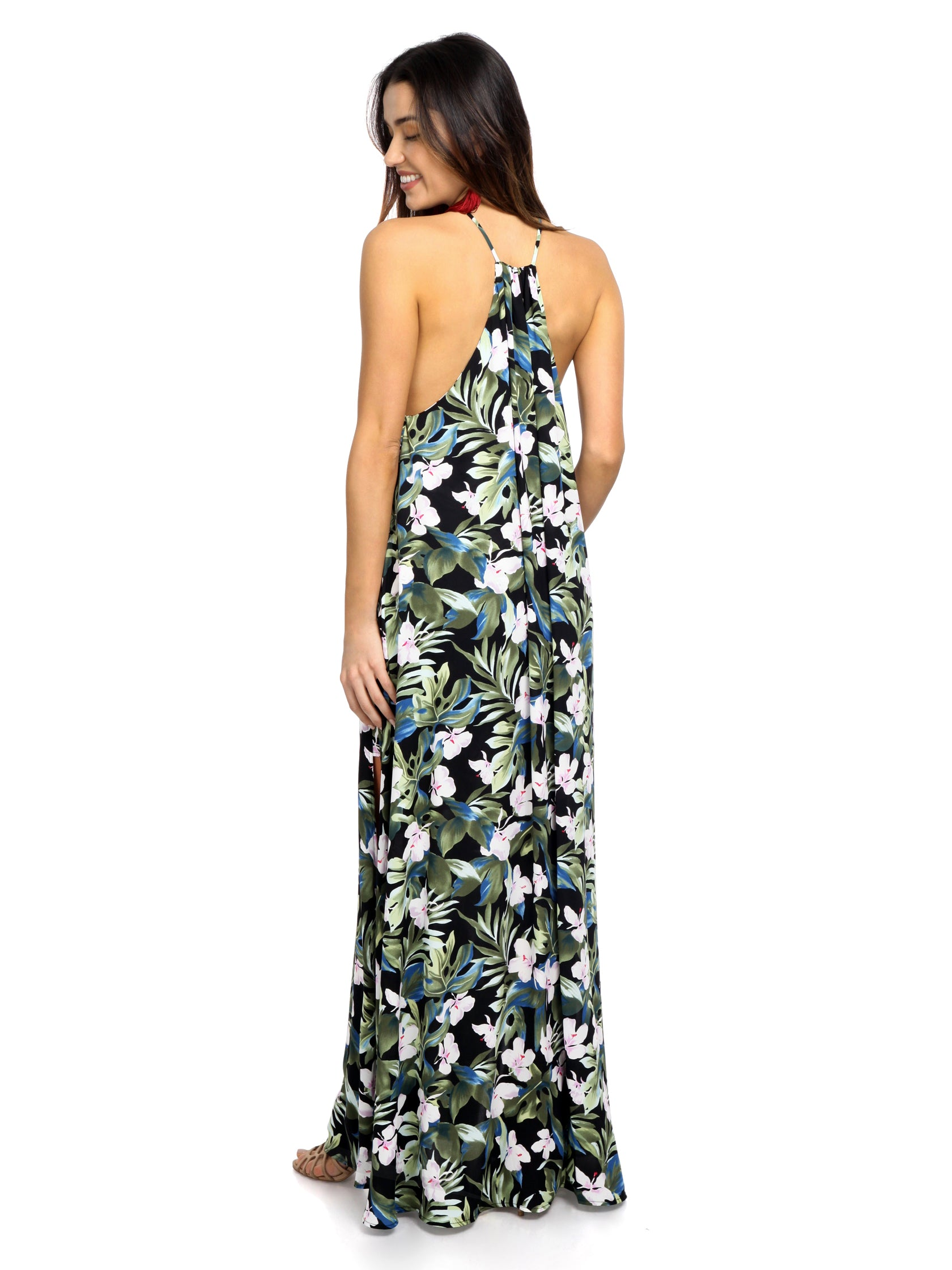 Women wearing a dress rental from Show Me Your Mumu called Bronte Maxi Dress