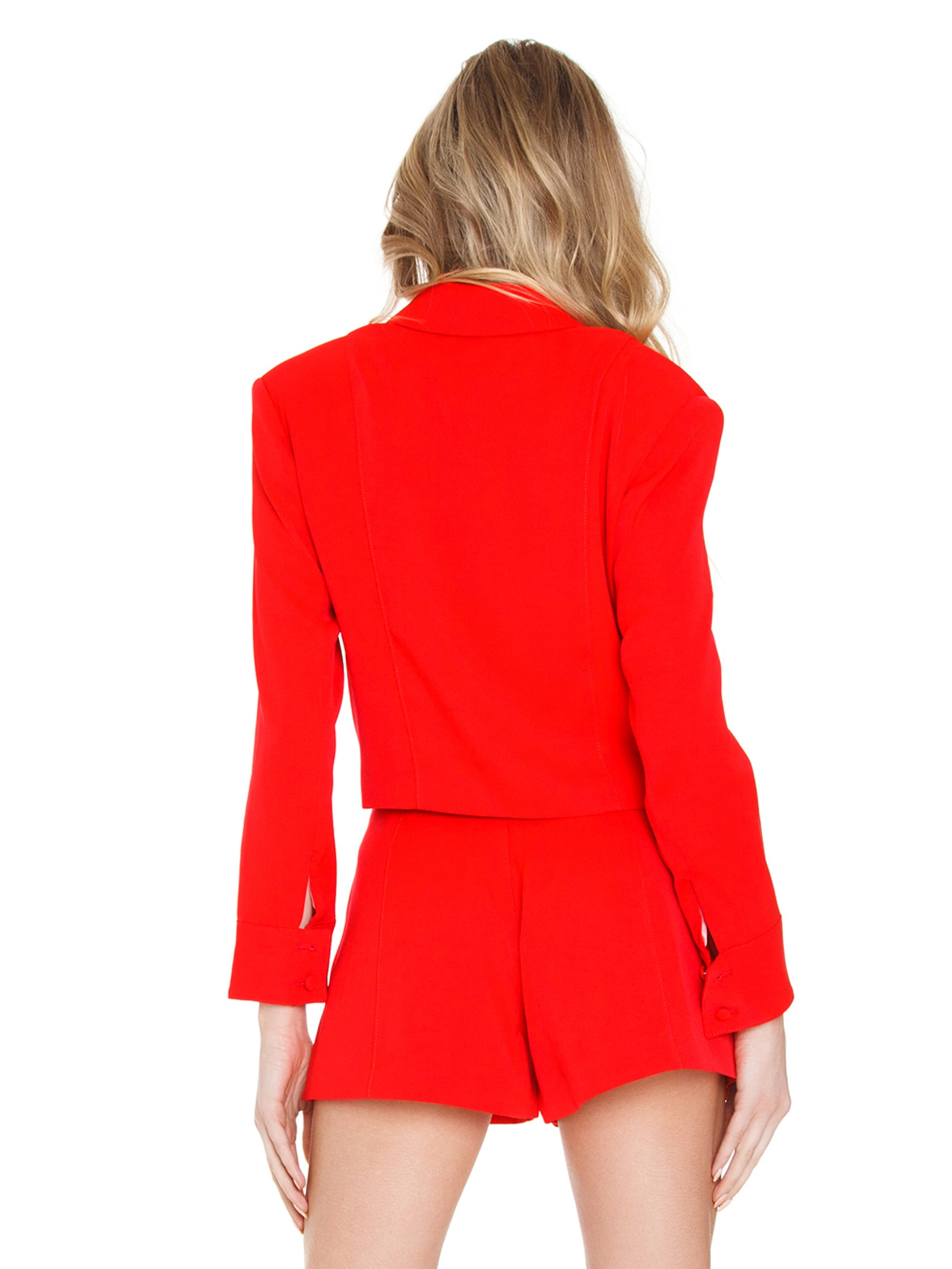 Women outfit in a blazer rental from FLETCH called Brooklyn Crop Jacket
