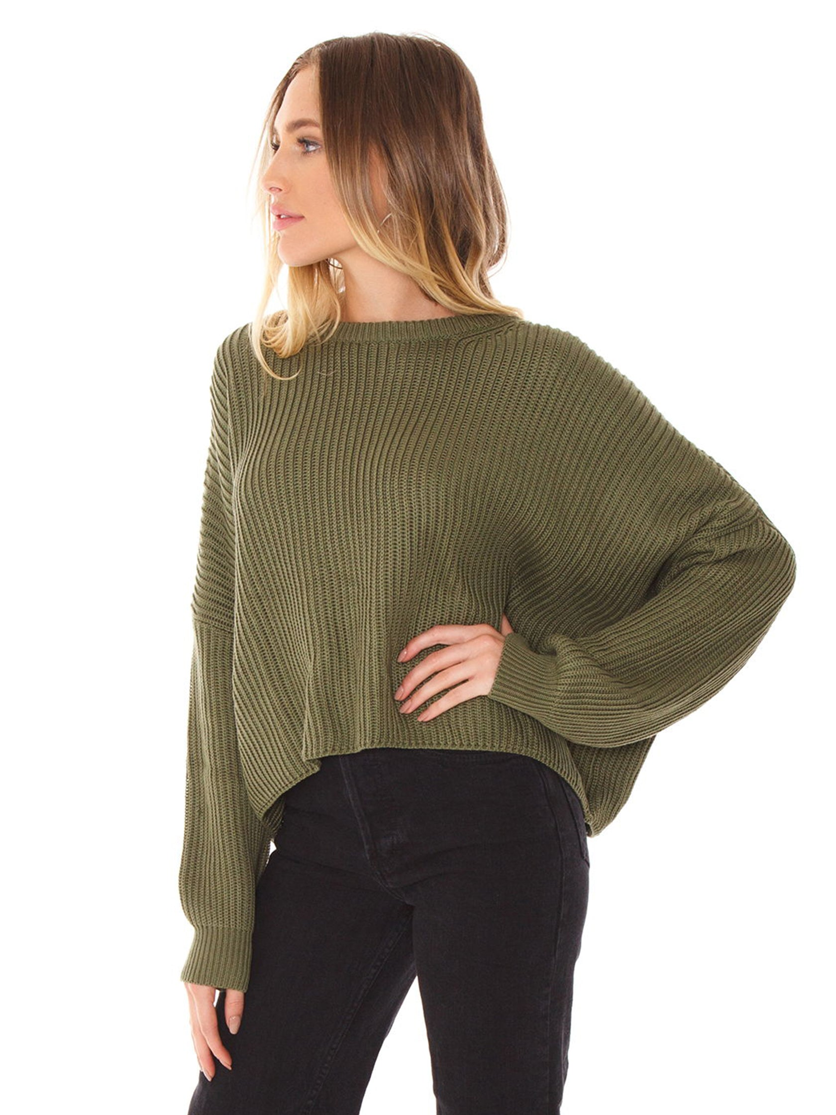 Women wearing a sweater rental from FashionPass called Callie Sweater