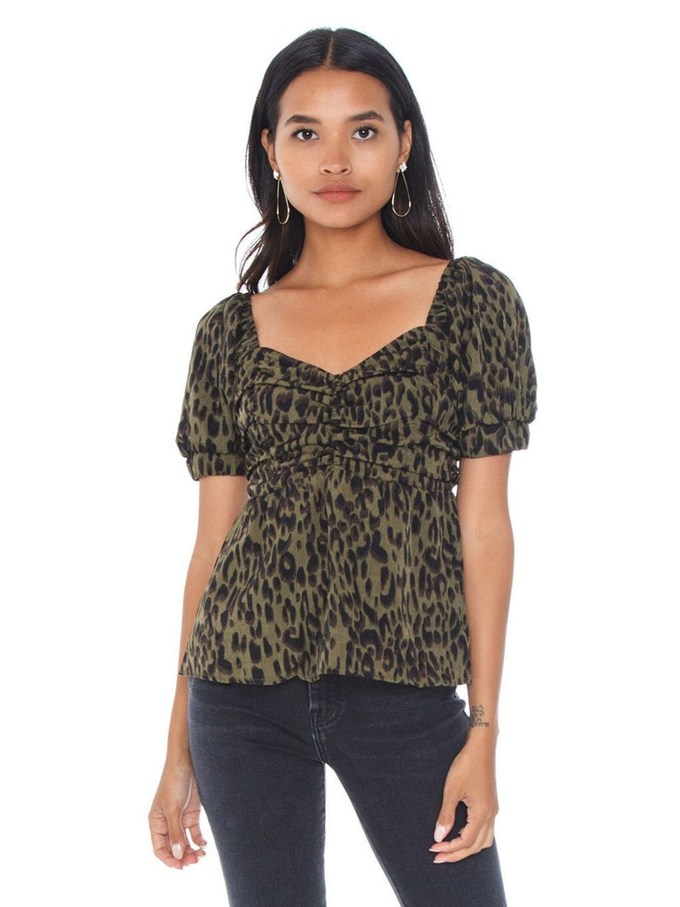 Women outfit in a top rental from Lost In Lunar called Capri Top
