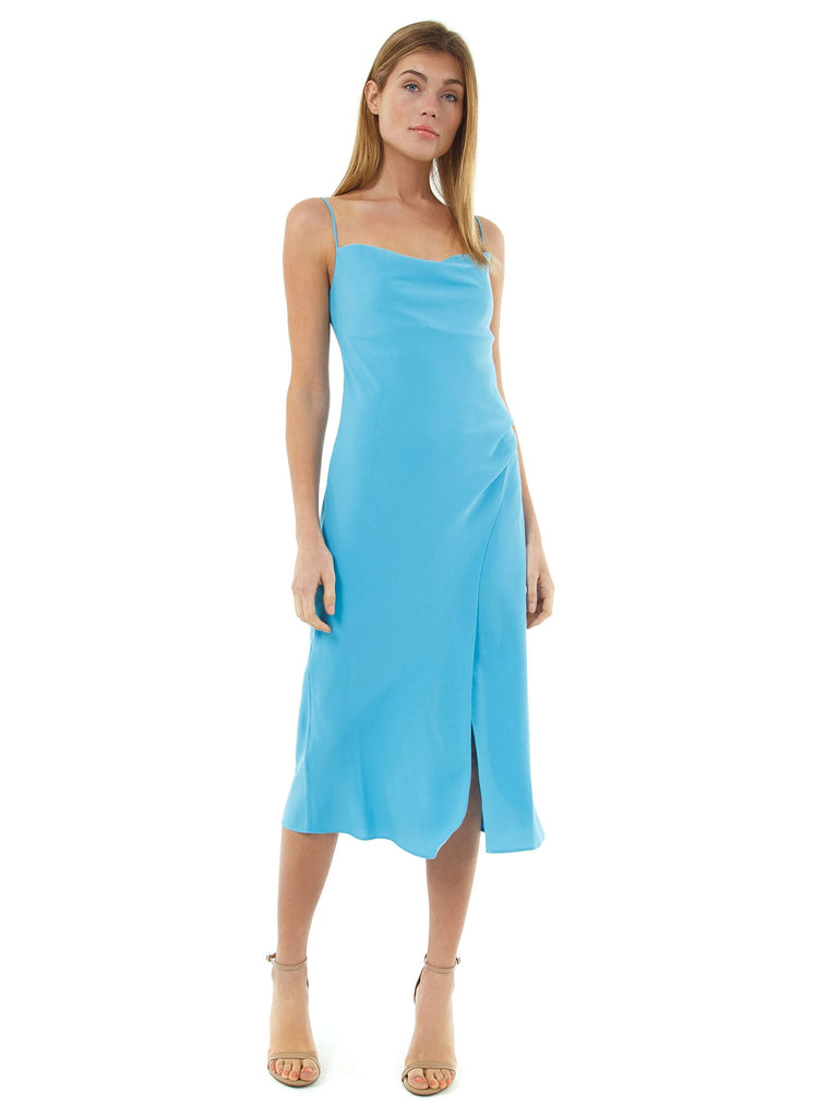 Women outfit in a dress rental from Finders Keepers called Harley Zipper Maxi Dress
