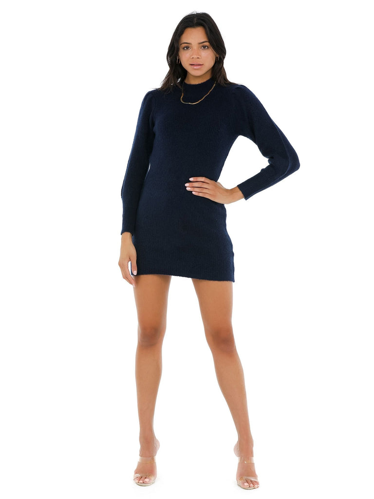 Women wearing a dress rental from Bishop + Young called Camila Sweater Dress