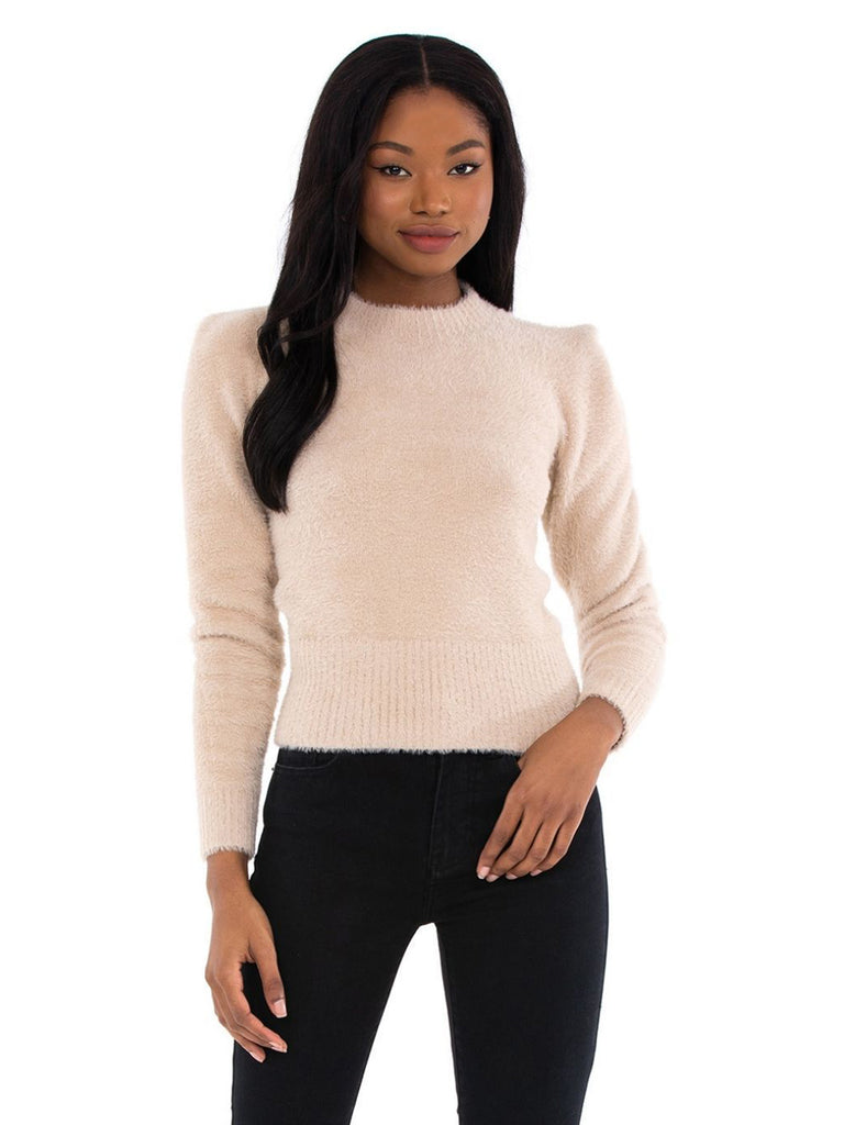 Girl outfit in a sweater rental from ASTR called Cropped Farah Trouser