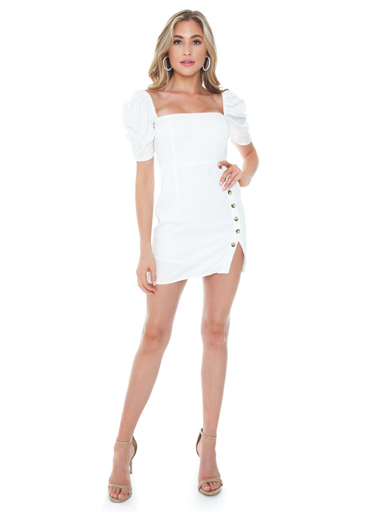 Woman wearing a dress rental from Lani The Label called Romee Dress