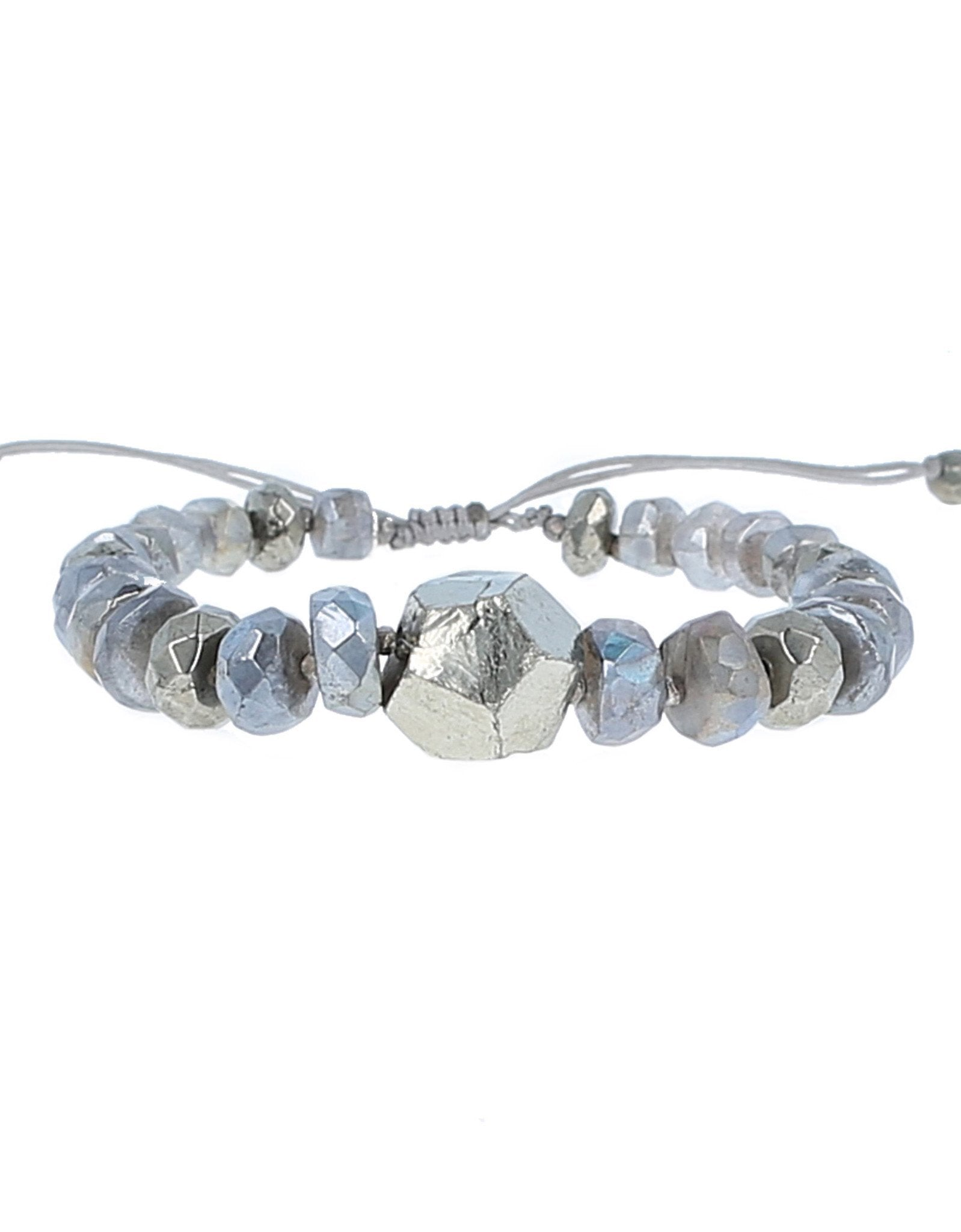Women outfit in a bracelet rental from Chan Luu called Mystic Labradorite Adjustable Bracelet