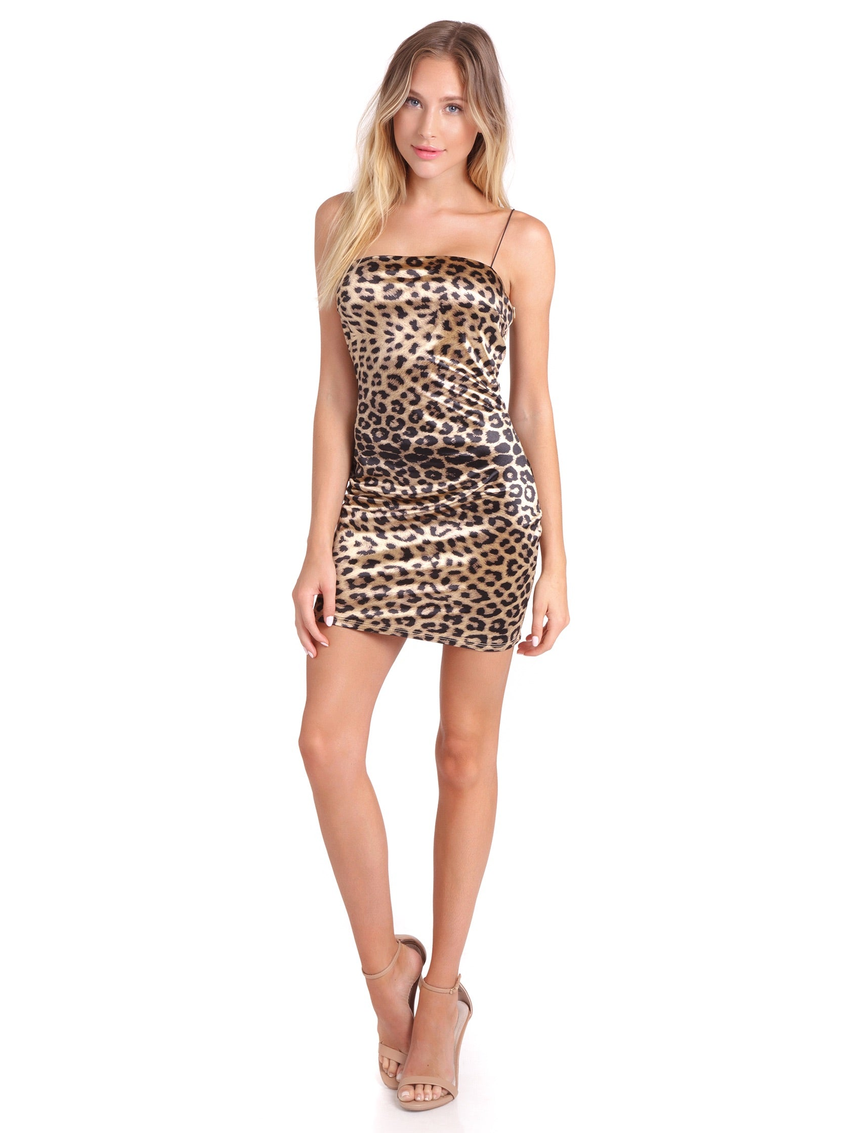 Girl outfit in a dress rental from FashionPass called Cheetah Girl Mini Dress